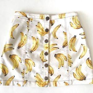 Banana Denim Skirt